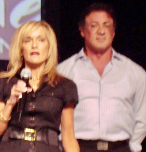 Susan With Sylvester Stallone